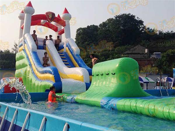 儿童水上乐园-四川泸州水上乐园展示-客户案例-支架
