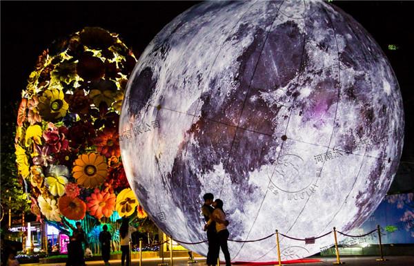 月球简笔画图画